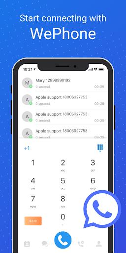 wephone free phone calls cheap calls apk mod free download 1