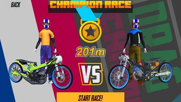 game drag bike 201m