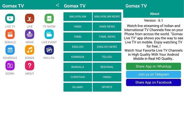 gomax live tv apk free download