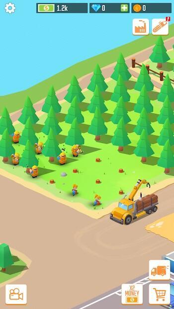 idle forest lumber mod apk