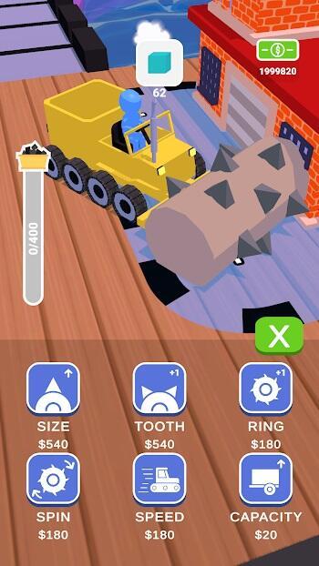 stone miner mod apk free upgrade