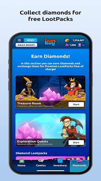 lootboy mod apk unlimited diamond